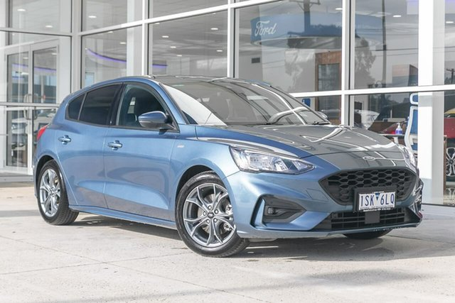 Used Ford Focus ST-Line Ferntree Gully, 2020 Ford Focus ST-Line Blue 8 Speed Automatic Hatchback