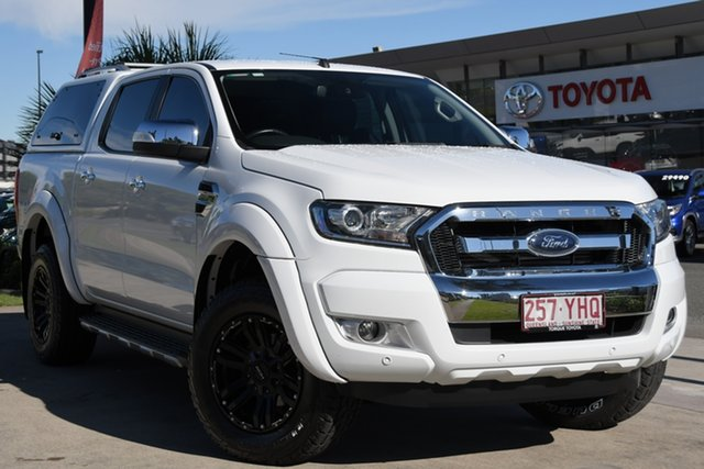 Pre-Owned Ford Ranger PX MkII 2018.00MY XLT Double Cab North Lakes, 2018 Ford Ranger PX MkII 2018.00MY XLT Double Cab White 6 Speed Sports Automatic Utility