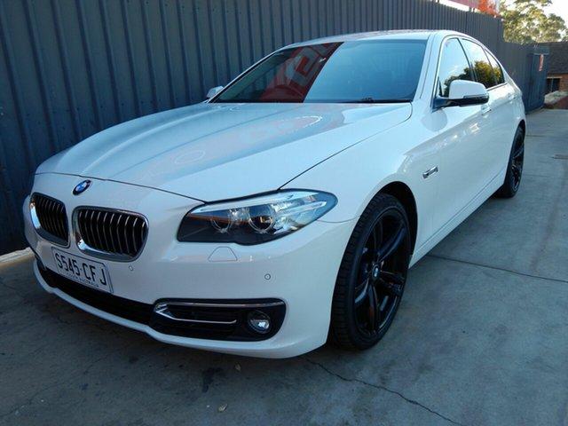 Used BMW 5 Series F10 LCI 520d Steptronic Luxury Line Blair Athol, 2015 BMW 5 Series F10 LCI 520d Steptronic Luxury Line White 8 Speed Sports Automatic Sedan
