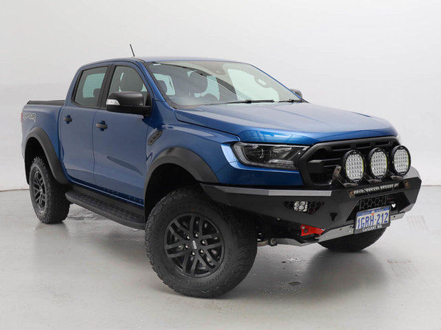 Used Ford Ranger PX MkIII MY19 Raptor 2.0 (4x4), 2018 Ford Ranger PX MkIII MY19 Raptor 2.0 (4x4) Blue 10 Speed Automatic Double Cab Pick Up