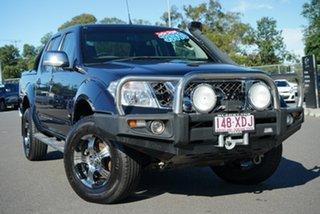 2012 Nissan Navara D40 S5 MY12 ST-X Blackline Blue 7 Speed Sports Automatic Utility.