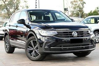 2021 Volkswagen Tiguan 5N MY21 110TSI Life DSG 2WD Deep Black Pearl Effect 6 Speed.