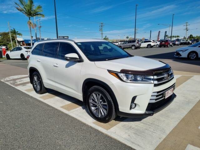 Pre-Owned Toyota Kluger GSU55R GXL AWD Gladstone, 2019 Toyota Kluger GSU55R GXL AWD Crystal Pearl 8 Speed Sports Automatic Wagon