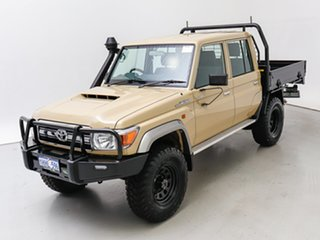2021 Toyota Landcruiser 70 Series VDJ79R GXL Sandy Taupe 5 Speed Manual Double Cab Chassis