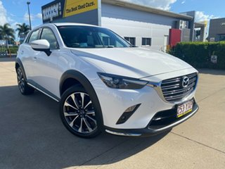 2019 Mazda CX-3 DK4W7A sTouring SKYACTIV-Drive i-ACTIV AWD White/310519 6 Speed Sports Automatic.