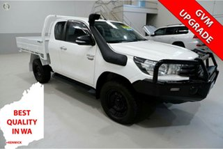 2016 Toyota Hilux GUN126R SR Extra Cab White 6 Speed Manual Utility.