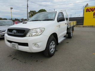 2009 Toyota Hilux KUN26R 08 Upgrade SR (4x4) White 4 Speed Automatic Cab Chassis.