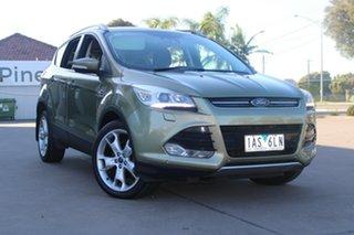 2013 Ford Kuga TF Titanium (AWD) Green 6 Speed Automatic Wagon.