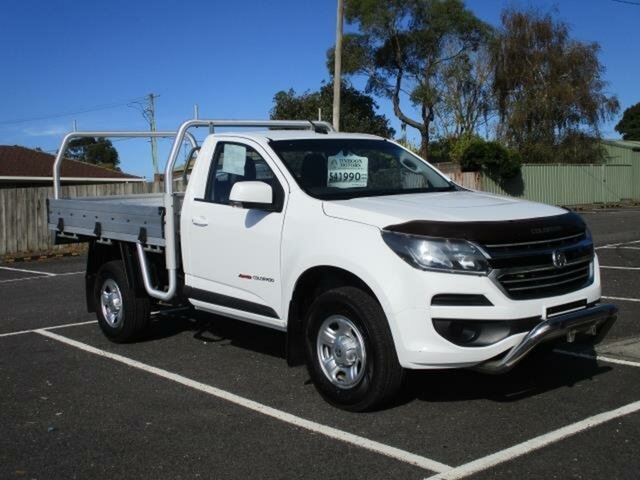 Used Holden Colorado LS Timboon, 2018 Holden Colorado RG Turbo LS Summit White Automatic SINGLE CABCHASS