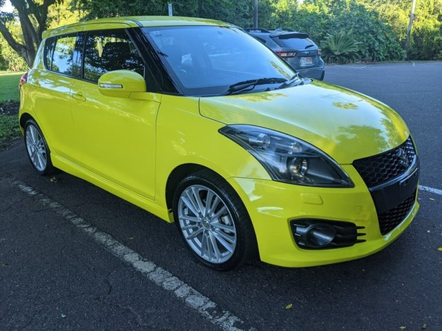 Used Suzuki Swift FZ Sport Stuart Park, 2012 Suzuki Swift FZ Sport Yellow 7 Speed Constant Variable Hatchback