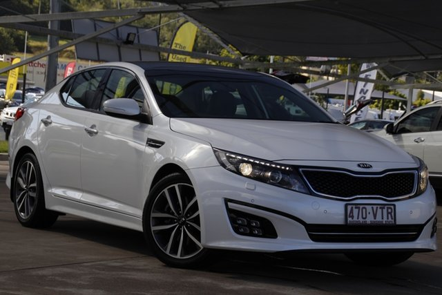 Used Kia Optima TF MY15 Platinum Bundamba, 2015 Kia Optima TF MY15 Platinum Snow White Pearl 6 Speed Sports Automatic Sedan