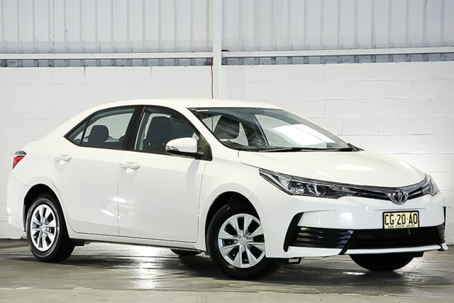 Used Toyota Corolla ZRE172R Ascent S-CVT West Gosford, 2017 Toyota Corolla ZRE172R Ascent S-CVT White 7 Speed Constant Variable Sedan