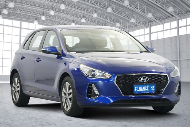 Used Hyundai i30 PD2 MY20 Active Victoria Park, 2020 Hyundai i30 PD2 MY20 Active Intense Blue 6 Speed Sports Automatic Hatchback