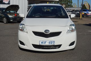 2008 Toyota Yaris NCP93R MY09 YRS Snow Cap White 4 Speed Automatic Sedan