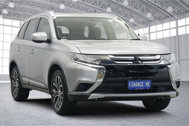 Used Mitsubishi Outlander ZL MY18.5 ES AWD Victoria Park, 2018 Mitsubishi Outlander ZL MY18.5 ES AWD Sterling Silver 6 Speed Constant Variable Wagon