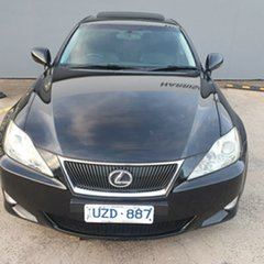 2007 Lexus IS GSE20R IS250 Prestige Black 6 Speed Sports Automatic Sedan