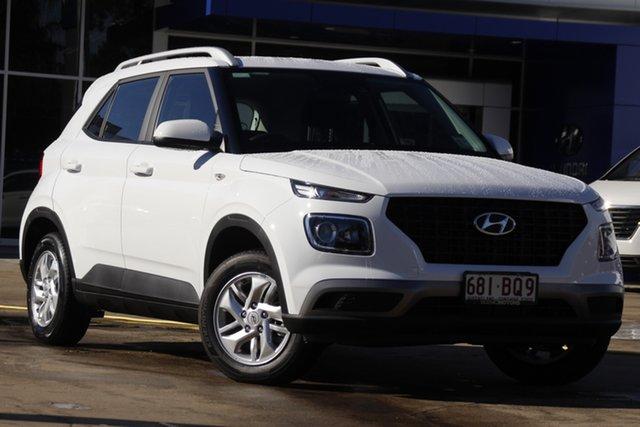 Demo Hyundai Venue QX.V3 MY21 Beaudesert, 2021 Hyundai Venue QX.V3 MY21 Polar White 6 Speed Automatic Wagon