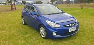2011 Hyundai Accent RB Premium Blue Ocean 4 Speed Sports Automatic Hatchback.