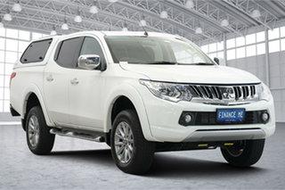2016 Mitsubishi Triton MQ MY17 GLX+ Double Cab White 5 Speed Sports Automatic Utility.