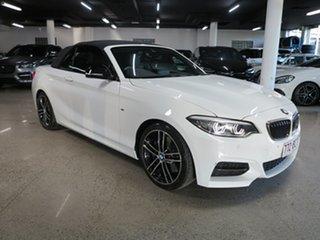 2019 BMW 2 Series F23 LCI M240I White 8 Speed Sports Automatic Convertible.