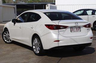 2017 Mazda 3 BN5238 SP25 SKYACTIV-Drive White 6 Speed Sports Automatic Sedan.