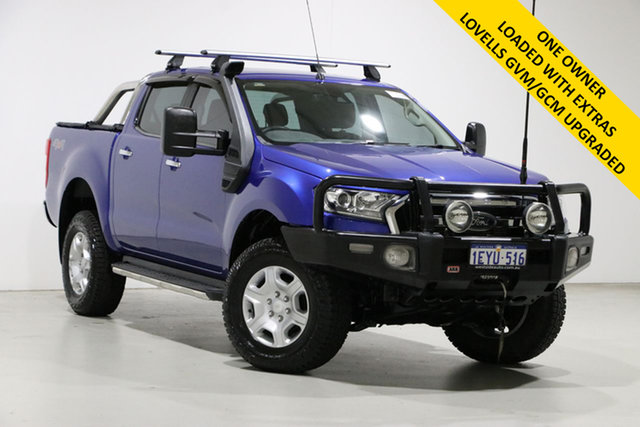 Used Ford Ranger PX MkII XLT 3.2 (4x4) Bentley, 2015 Ford Ranger PX MkII XLT 3.2 (4x4) Blue 6 Speed Manual Double Cab Pick Up