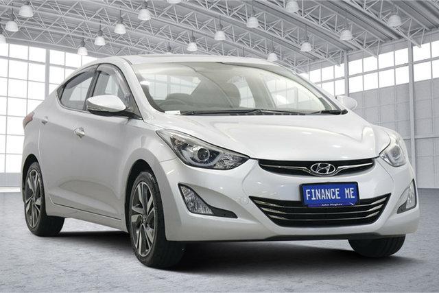 Used Hyundai Elantra MD3 Premium Victoria Park, 2014 Hyundai Elantra MD3 Premium Sleek Silver 6 Speed Sports Automatic Sedan