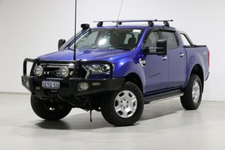 2015 Ford Ranger PX MkII XLT 3.2 (4x4) Blue 6 Speed Manual Double Cab Pick Up.