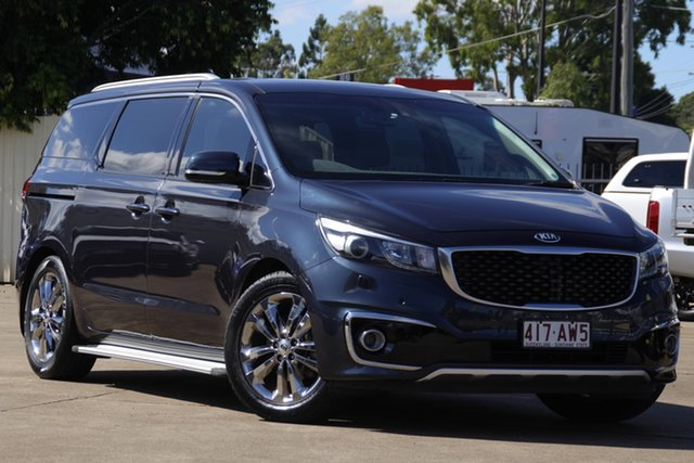 Used Kia Carnival YP MY16 Platinum Bundamba, 2016 Kia Carnival YP MY16 Platinum Deep Blue 6 Speed Sports Automatic Wagon