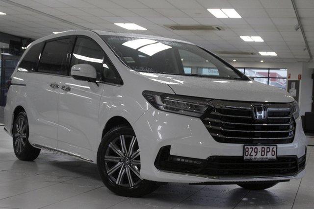 Demo Honda Odyssey RC 21YM Vi LX7 Mount Gravatt, 2021 Honda Odyssey RC 21YM Vi LX7 Platinum White 7 Speed Constant Variable Wagon