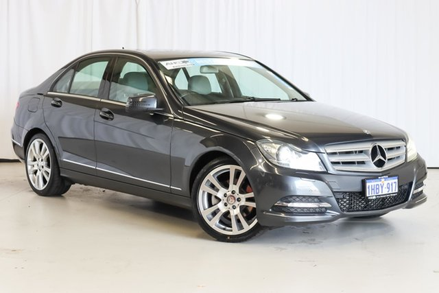 Used Mercedes-Benz C-Class W204 MY13 C250 BlueEFFICIENCY 7G-Tronic + Avantgarde Wangara, 2012 Mercedes-Benz C-Class W204 MY13 C250 BlueEFFICIENCY 7G-Tronic + Avantgarde Grey 7 Speed