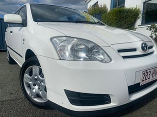 2004 Toyota Corolla ZZE122R Ascent White 5 Speed Manual Hatchback.