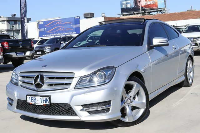Used Mercedes-Benz C-Class C204 C250 7G-Tronic + Avantgarde Coburg North, 2014 Mercedes-Benz C-Class C204 C250 7G-Tronic + Avantgarde Silver 7 Speed Sports Automatic Coupe