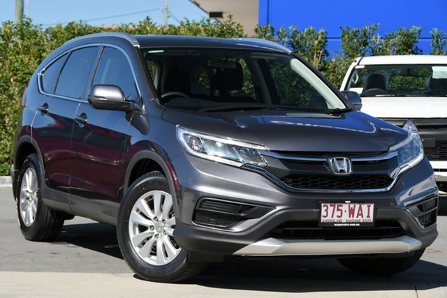 Used Honda CR-V RM Series II MY16 VTi 4WD Aspley, 2015 Honda CR-V RM Series II MY16 VTi 4WD Modern Steel 5 Speed Sports Automatic Wagon