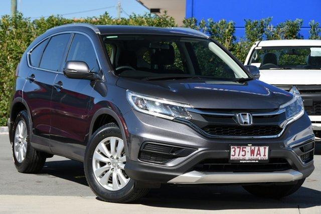 Used Honda CR-V RM Series II MY16 VTi 4WD Aspley, 2015 Honda CR-V RM Series II MY16 VTi 4WD Modern Steel 5 Speed Sports Automatic Wagon
