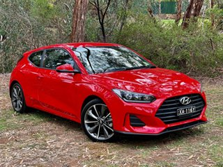 2019 Hyundai Veloster JS MY20 Ignite Flame 6 Speed Automatic Coupe