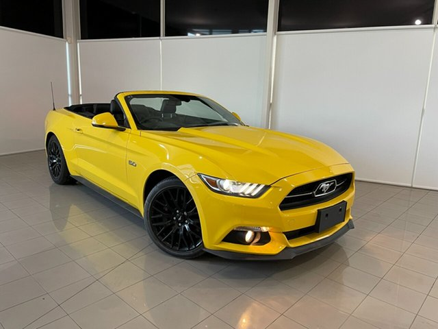 Used Ford Mustang FM 2017MY GT SelectShift Deer Park, 2017 Ford Mustang FM 2017MY GT SelectShift Yellow 6 Speed Sports Automatic Convertible