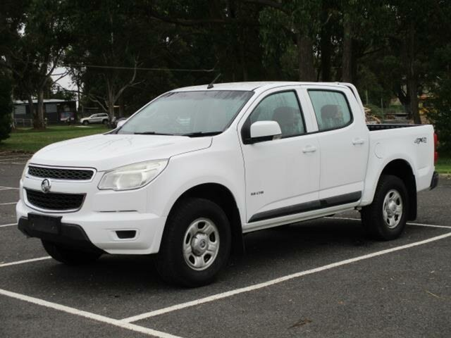 Used Holden Colorado Timboon, 2012 Holden Colorado RG Turbo LX 4x4 White Automatic Dual Cab Utility