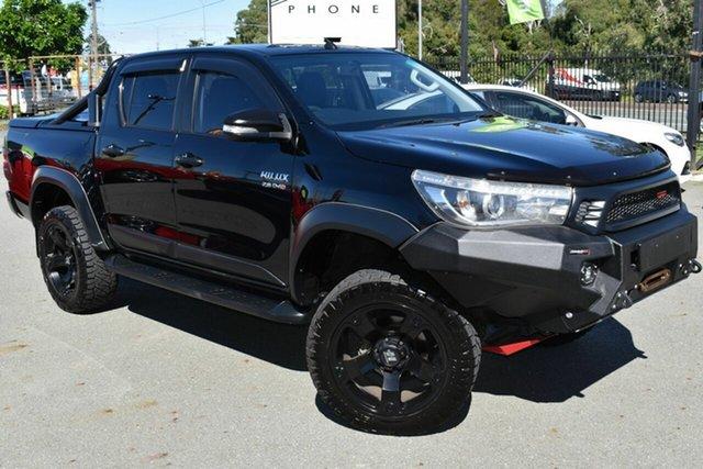 Used Toyota Hilux GUN126R TRD Black (4x4) Underwood, 2017 Toyota Hilux GUN126R TRD Black (4x4) Black 6 Speed Manual Dual Cab Utility