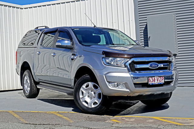 Used Ford Ranger PX XLT Double Cab Springwood, 2015 Ford Ranger PX XLT Double Cab Silver 6 Speed Sports Automatic Utility