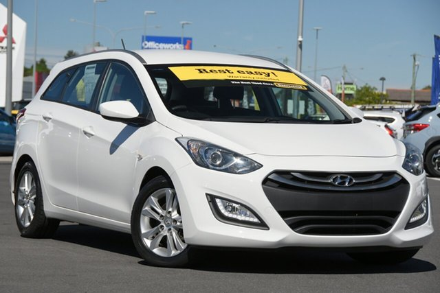 Used Hyundai i30 GD Active Tourer Aspley, 2013 Hyundai i30 GD Active Tourer White 6 Speed Sports Automatic Wagon