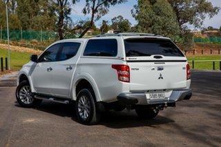2016 Mitsubishi Triton MQ MY16 GLS (4x4) White 5 Speed Automatic Dual Cab Utility.