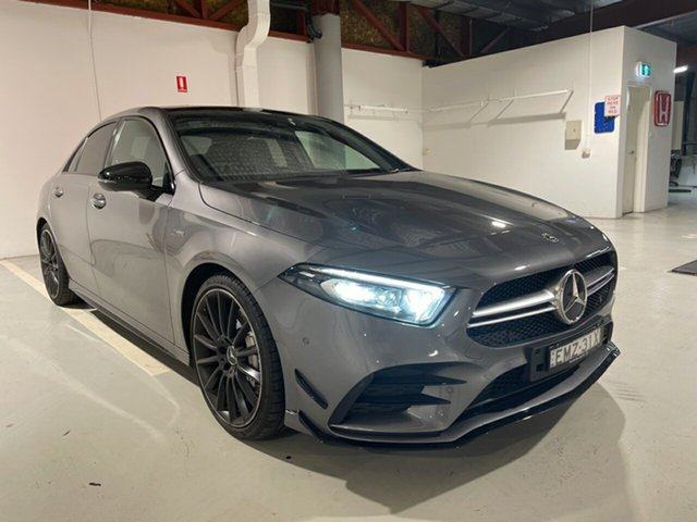 Used Mercedes-Benz A-Class V177 801+051MY A35 AMG SPEEDSHIFT DCT 4MATIC Artarmon, 2020 Mercedes-Benz A-Class V177 801+051MY A35 AMG SPEEDSHIFT DCT 4MATIC Grey 7 Speed