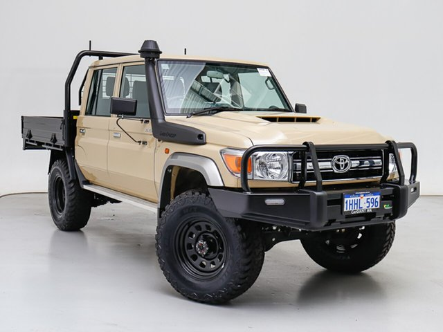 Used Toyota Landcruiser 70 Series VDJ79R GXL, 2021 Toyota Landcruiser 70 Series VDJ79R GXL Sandy Taupe 5 Speed Manual Double Cab Chassis