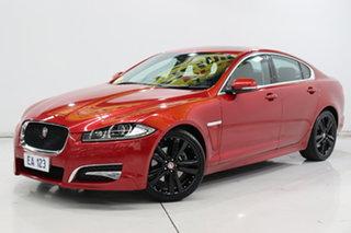 2015 Jaguar XF X250 MY15 Premium Luxury Red/Black 8 Speed Sports Automatic Sedan.