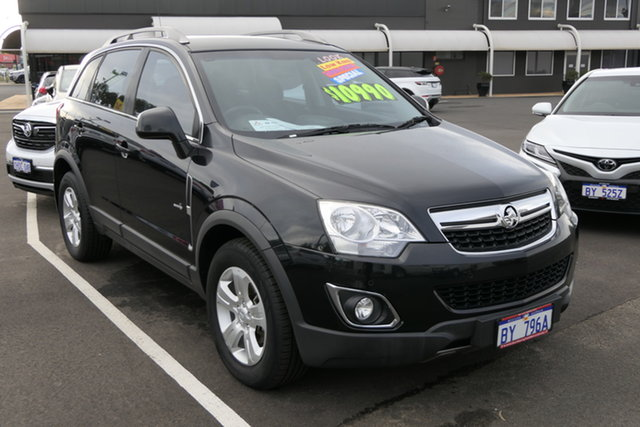 Used Holden Captiva CG Series II 5 AWD Bunbury, 2012 Holden Captiva CG Series II 5 AWD Carbon Flash Black 6 Speed Sports Automatic Wagon