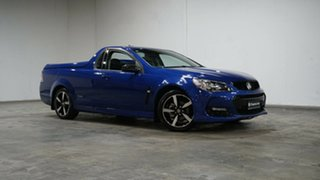 2016 Holden Ute VF II MY16 SV6 Ute Black Blue 6 Speed Sports Automatic Utility.