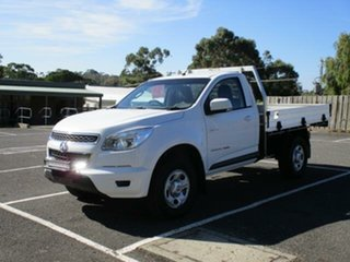 2014 Holden Colorado RG Turbo LX Summit White Manual Single Cab Chassis.