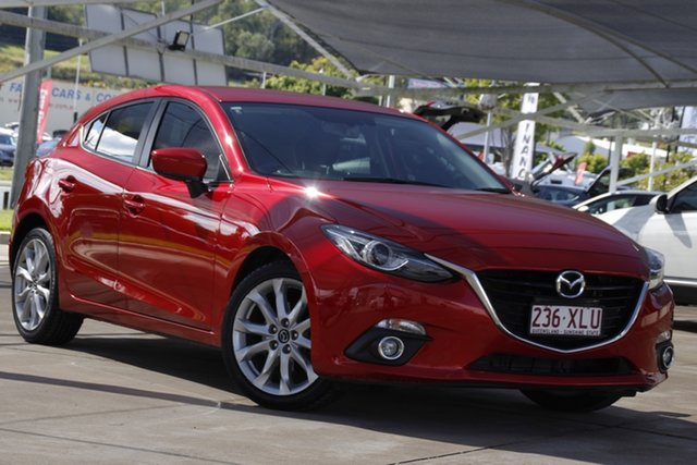 Used Mazda 3 BM5438 SP25 SKYACTIV-Drive GT Bundamba, 2014 Mazda 3 BM5438 SP25 SKYACTIV-Drive GT Red 6 Speed Sports Automatic Hatchback