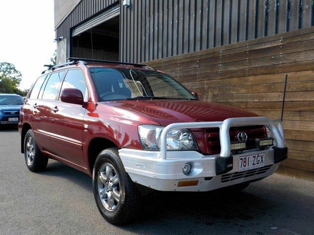 Used Toyota Kluger MCU28R CVX AWD Labrador, 2004 Toyota Kluger MCU28R CVX AWD Red 5 Speed Automatic Wagon